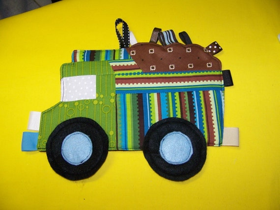 Dump Truck Patchwork Crinkle Taggie Toy pdf Pattern and Tutorial