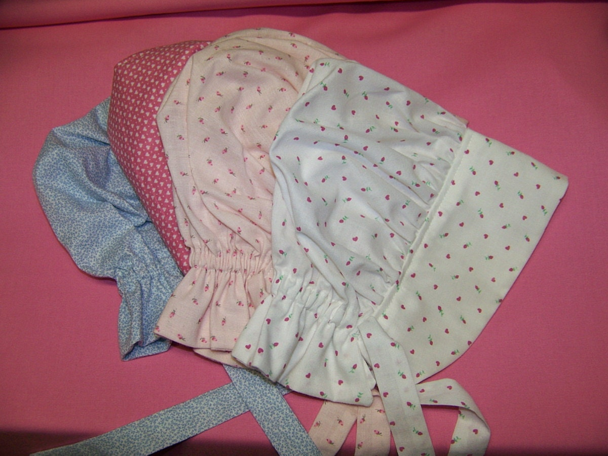 Baby Sun Bonnet Pdf Pattern And Tutorial Sizes 1 By Civilwarlady