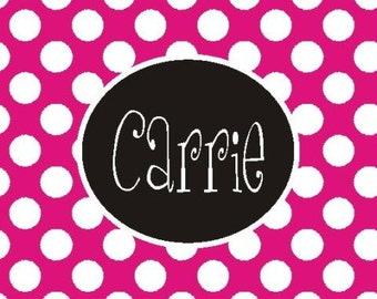 Personalized/Monogrammed Pink/white dot  Mousepad