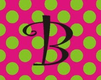 Personalized/Monogrammed Pink/lime dot Mousepad