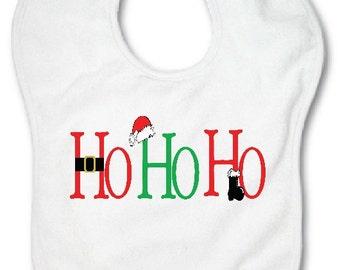 Baby Bib HO HO HO - personalized - monogrammed