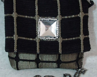 Black and bronze evening bag by Opulent Handbags