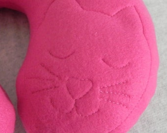 Child's Travel Pillow, Bright Pink K15