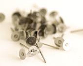Set of 8 Nickel Free Titanium 6mm flat Pad posts