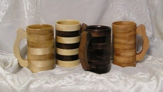 Wooden Tankard, Mug, Cup Stein for Wine, Ale, Beer