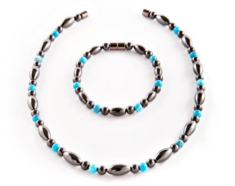 Magnetic Therapy  Save 5 Dollars Necklace and Anklet Set -