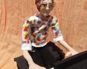 """Elton John OOAK Original Poseable Artist's Doll (""""YOUR SONG"""")"""