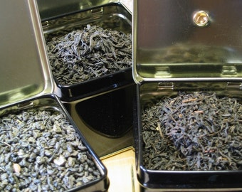 Teas Bound for New England - Superior green tea, Lapsang Souchong and Lichee Congou teas