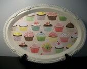 Scrappy Chic Tray--Cupcake Crazy
