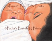 Just Born - ACEO Art Print - made from the original pastel