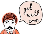 Wes Says Greeting Card - Get Well Soon (orange)