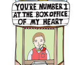 Romantic Card - You're Number 1 At The Box Office Of My Heart