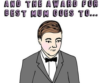 Mother's Day Card - The Award For Best Mum