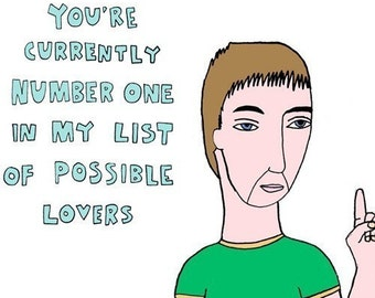Lover Card - You're currently number one BOY VERSION