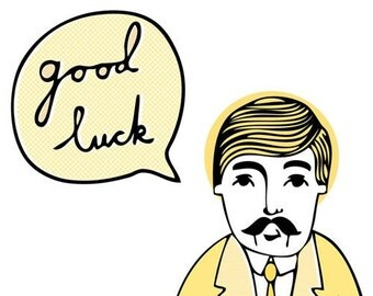 Wes Says Greeting Card - Good Luck (yellow)