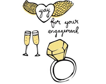 Greeting Card - Yay for your engagement