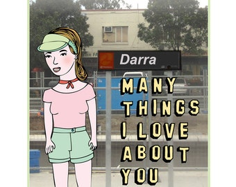 Brisbane Card - Darra Many Things I Love About You