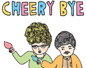 Going Away Card - Cheery Bye
