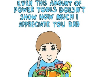 Father's Day Card - Power Tools