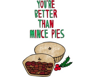 Christmas Card - Mince Pies