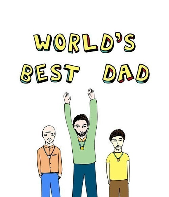 Father's Day Card - Worlds Best Dad