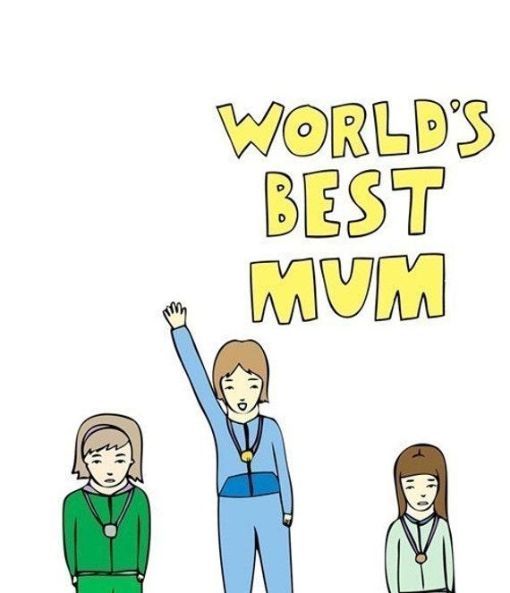 Mother's Day Card - World's Best Mum