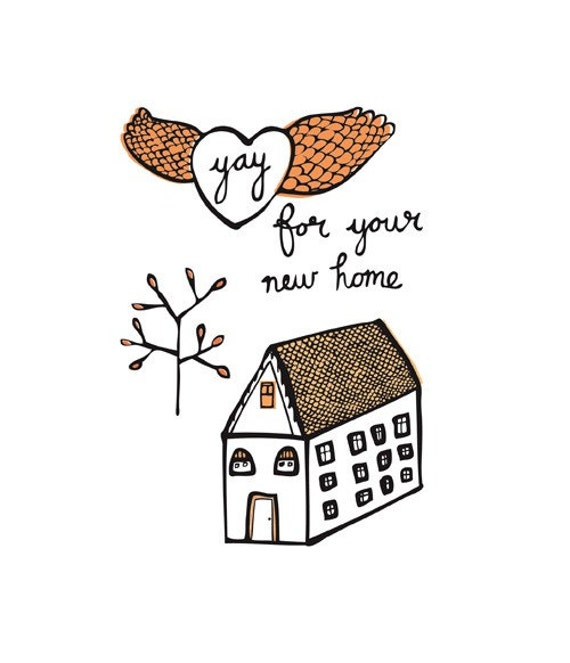 Greeting card - yay for your new home