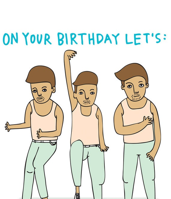 Birthday Card - On Your Birthday Let's Boom Boom Boom Shake The Room