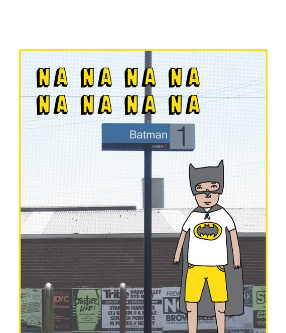 Melbourne Station Card - Batman