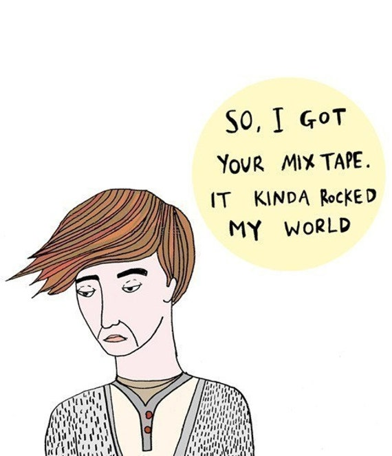 Hipster Card - So I got your mix tape, it kinda rocked my world (boy version)