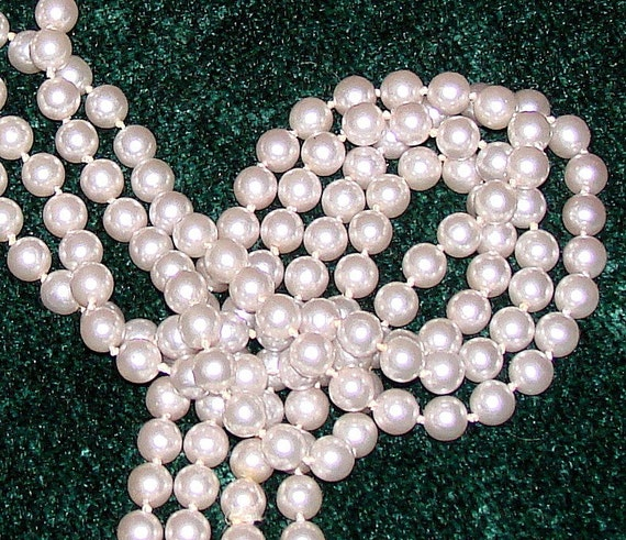 Long Strand Of Vintage Pearls