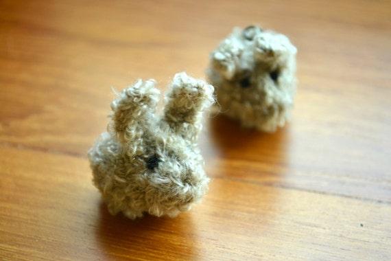 Dust Bunny hand-knitted amigurumi keyring