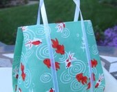 Seagreen Goldfish, Designer Mini Handbag- Card and Gift Holder