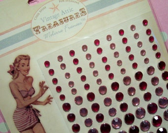 Melissa Frances Pink Rhinestones Embellishments
