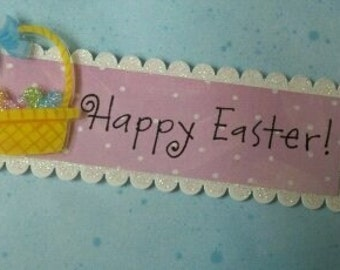 Happy Easter Card with Daisies - Handmade Card