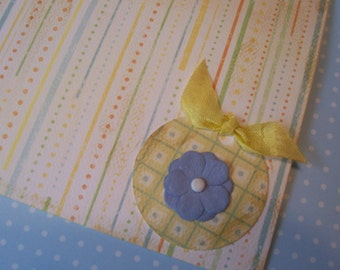 Polka Dots and Flowers All Occasion Friendship Birthday Greeting Card