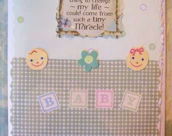 A Tiny Miracle Baby or Baby Shower Card