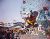 Carnival Ride Holga Photography, When Elephants Fly, Metallic Fine Art Print