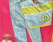 1988 Ken doll stonewash jeans outfit in unopened package