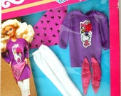1989 Barbie Disney Character Outfit- Daisy Duck tunic, leggings, legwarmers