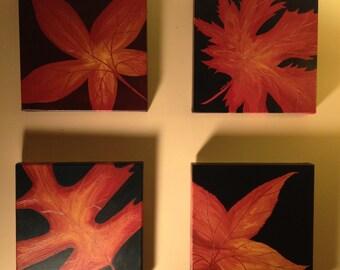 Leaf Series 16- Original Acrylic Painting on Canvas