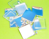 5 Pendant Trays with Glass Inserts ONE INCH square