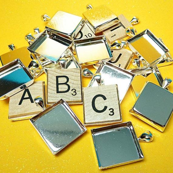 20 Scrabble-size Pendant Trays