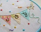 Embroidery pattern 1.  Joy
