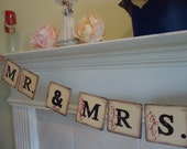 Wedding Banner-Mr and Mrs Garland-Reception Decor-Mr and Mrs Banner-Wedding Decorations-Mr and Mrs Sign-Bride and Groom Sign-Wedding Signs