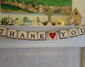 Wedding Banner-Garland- Thank You Banner- Hand Painted- Celtic- Irish Wedding Banner-Celtic Wedding Banner