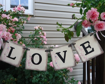 Wedding Banner-Garden Wedding-Bridal Shower Sign-Wedding Photo Prop-Love Wedding Sign-Engagement Photos-Wedding Garland-Wedding Decorations