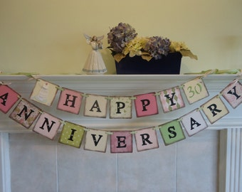 Anniversary Banners-Happy Anniversary-Anniversary Sign-Anniversary Party-Wedding Anniversary-Custom Wedding Sign-Vow Renewal Banner-Weddings