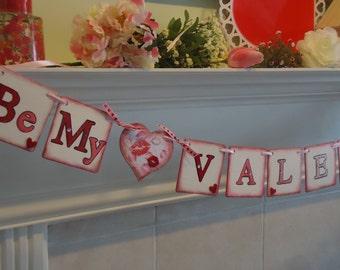 Valentine Banner-Be My Valentine Sign-Valentine Decoration- Valentine Photo Prop-Valentines Day Decor-Valentine Heart Sign-Heart Banner
