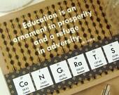 Chemistry Geek Graduation Card - Brown
